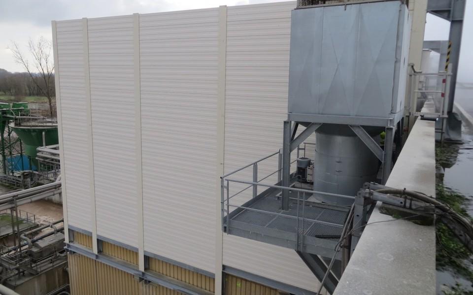 Panneaux antibruit en aluminium dox noise control - Panneaux anti bruit exterieur ...